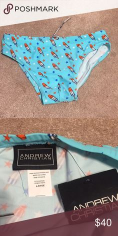 *NWT* Andrew Christian popsicle bikini Never been worn, but now is too big for me. Andrew Christian Swim