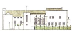 Mackintosh's elevation for House for an Art Lover