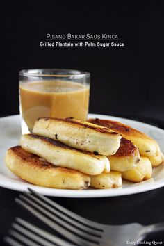 Pisang Bakar Saus Kinca - Grilled Plantain with Palm Sugar Sauce | dailycookingquest
