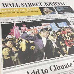 SEALDs WSJアジア版のトップを飾る!
