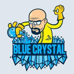 breaking bad, metlab illustration, blue crystal met