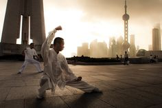 Tai Chi....they would have these demonstrations outside of the breakfast room at one of our hotels.
