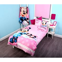 Minnie Mouse Toddler Bed With Storage Shelf