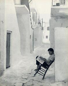 Mykonos 1960 Mykonos Island, Mykonos Greece, Athens Greece, Old Pictures, Travel Pictures, Old Photos, Vintage Photos, Greece Photography, Malta
