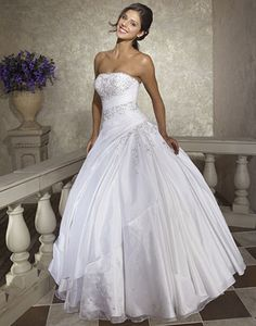 Allure, Q211 $338 Style #: Q211 Colors: White, Ivory, Purple, Navy, Fuchsia Fabric: Taffeta and Organza