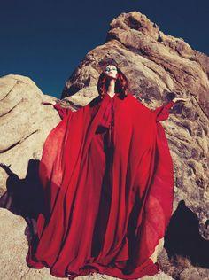 Codie Young by Sofia Sanchez for Numero #142 April 2013 wearing Saint Laurent