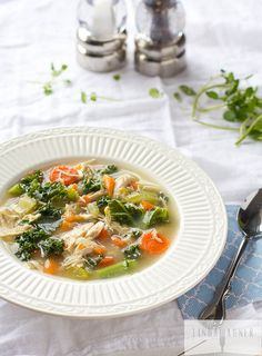Easy Chicken & Kale Vegetable Soup + The Magic of Bone Broth via Linda Wagner {Paleo, Gluten Free, Dairy Free, Low Carb}