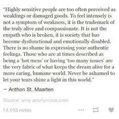 """""""there is no shame in expressing your authentic feelings.""""  -@alisongo"""
