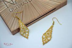 Bead Embroidery Jewelry, Beaded Jewelry Patterns, Beading Patterns, Seed Bead Jewelry, Seed Bead Earrings, Bead Crafts, Jewelry Crafts, Art Perle, Stitch Crochet