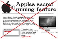 """People Fooled Into Using Apples Bitcoin Mining """"Secret"""""""