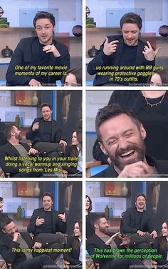 Hugh Jackman singing Les Mis songs on the X-men set.