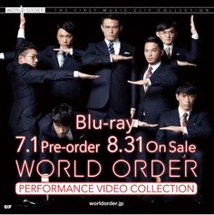 """WORLD ORDER's 4th Album Release Date has been announced!  (^o^) This new Album will come in the form of a VIDEO COLLECTION, and contains WO's latest Songs, from """"History of Voice 2015"""" until """"Singularity"""". It will be available as Ltd. 1st Press Edition (Audio CD + Video Blu Ray) or Normal Edition (Video Blu Ray ). Both Editions include Bonus features.  Info Japanese: http://worldorder-shop.jp/pvc/"""