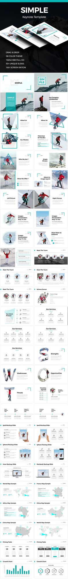 Simple  Clean Keynote Template — Keynote KEY #ecommerce #pitch deck powerpoint • Download ➝ https://graphicriver.net/item/simple-clean-keynote-template/19191168?ref=pxcr
