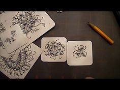 Fricle Tangle Pattern Lesson #19 - YouTube