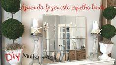 Diy- faça um espelho lindo e super fácil- decore sem gasta muito- Katherinne Ribeiro - YouTube