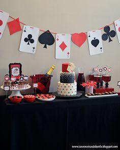 Trendy birthday games ideas casino party 40 Ideas ideas for birthday Las Vegas Party, Vegas Theme, Casino Night Party, Fète Casino, Casino Royale, Casino Games, Casino Poker, Mafia Party, Casino Party Decorations