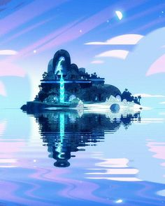 Another shot of the Steven Universe magical beach