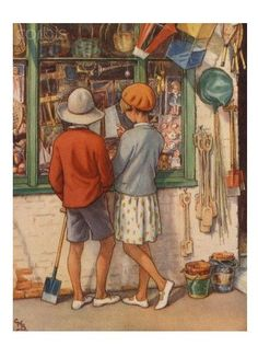 The Seaside Toyshop.  Illustration by Cicely Mary Barker.  No further information.