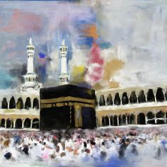 Khana Kaaba 594 3 by Mawra Tahreem Abstract Painting – Khana Kaaba 594 3 by Tour Tahreem Islamic Posters, Islamic Art Pattern, Islamic Paintings, Islamic Wall Art, Islamic Art Calligraphy, Traditional Paintings, Islamic Pictures, Impressionism Art, Canvas Art