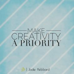 """""""Do something creative today. I promise it will take you one step closer to your purpose. #creative #lifepurpose #lifeonpurpose"""" Photo taken by @jodiehebbard on Instagram, pinned via the InstaPin iOS App! http://www.instapinapp.com (06/09/2015)"""