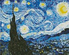 Artecy Cross Stitch. Free cross stitch patterns every two weeks. this week Starry night.
