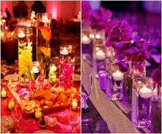 Charming Candles that Make for Romantic Centerpieces.  To see more wedding ideas: www.modwedding.com