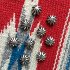 Larry Smith Concho Buttons. (silver, made in japan, craftsmanship)