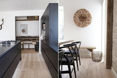 Trendy dining room - cool picture