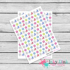 New to InkyDinkPrinting on Etsy: 137 Disco Roller Skating Full Sheet Planner Stickers Erin Condren Happy Planner Plum Planner Sticker Sampler EC Life Planner Limelife FS-51 (5.00 USD)