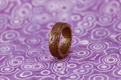 Mahogany ring - wooden ring   material: mahogany