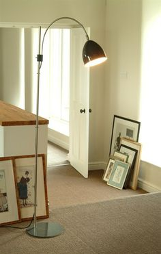 Our Brompton Floor Light crafted from powder-coated steel for both base and shade