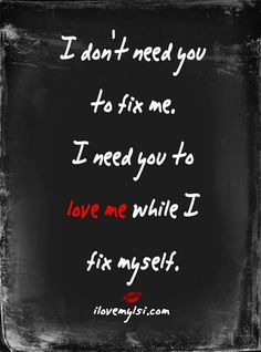 "But you couldn't. Your emotional abuse & neglect was what caused my need to ""fix"" myself."