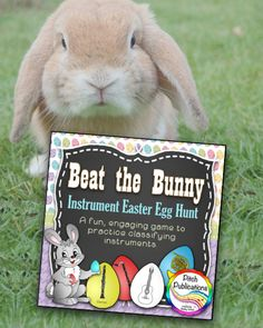 Need a way to practice classifying instruments of the orchestra? Look no further! Beat the Bunny is a super fun game your students will beg to play! This instrument family game is a great way to practice the woodwind family, brass family, string family, and percussion family of instruments!  #elmused #pitchpublications