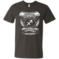 Sagittarius Men's Printed V-Neck T