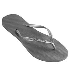 c15c89503 Havaianas Slim Crystal Glamour Grey Steel Womens Flip Flops 3738     Check  this awesome product by going to the link at the image. Sandals for Women