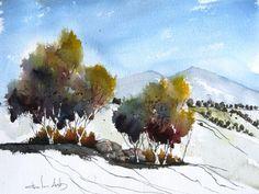 Pinon Grove - Original Watercolor Painting