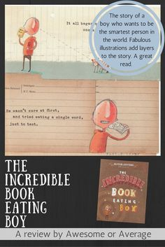 The Incredible Book Eating Boy, by Oliver Jeffers is a great kids' book with enticing illustrations and a clever story. It is both entertaining and encourages reading. Oliver Jeffers, Single Words, Classic Books, Great Books, Children's Books, Kids And Parenting, Kiwi, Clever, Encouragement