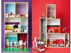 diy anleitung puppenhaus selber bauen via kinder pinterest dolls toys and. Black Bedroom Furniture Sets. Home Design Ideas