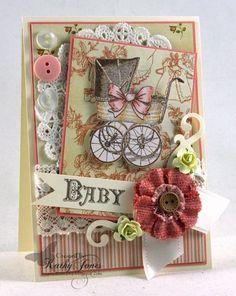 Bundle of Joy Vintage Labels Five Clear Stamps   JustRite Papercraft Inspiration Blog
