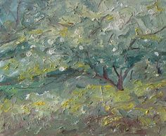 The Wild Apple Tree by Francois Fournier Oil ~ 10 x 12