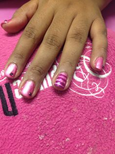 Gelish  nails pink