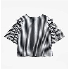 Striped Crop Top (€88) ❤ liked on Polyvore featuring tops