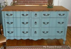 french dresser in annie sloan provence