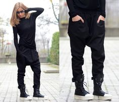 Loose Women Pants/ Drop Crotch Pants/ Extravagant Pants/ by Adeptt