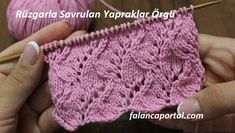 An openwork pattern, which is blown by the wind, leaves are made of knitting pattern. Lace Knitting, Knitting Stitches, Knitting Patterns Free, Knit Patterns, Stitch Patterns, Free Pattern, Knit Crochet, Crochet Hats, Knitting Videos