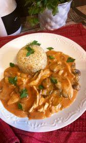 Andzia Pichci: Drobiowy strogonow Thai Red Curry, Ethnic Recipes, Food, Essen, Meals, Yemek, Eten