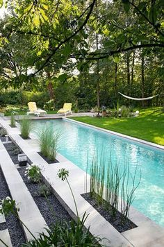 This is EXACTLY what I want. A lap pool. Clean lines great exercise.