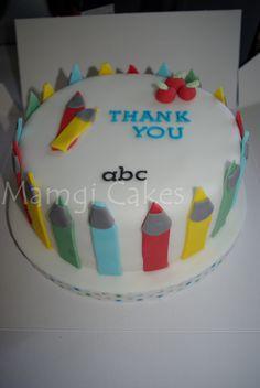 Thank you teacher cake www.mamgicakes.co.uk