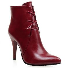 Stylish Solid Color and Pointed Toe Design Women's High Heel Boots