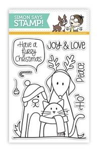 Simon Says Clear Stamps FURRY CHRISTMAS Friends Pets sss101204 at Simon Says STAMP! 6.99